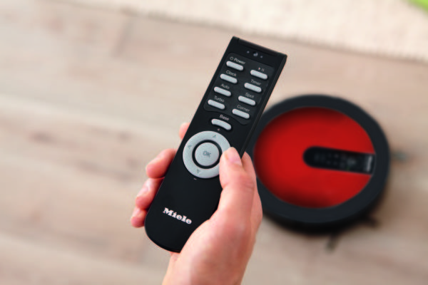 Miele Scout + Remote RX1 in Red